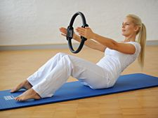 Pilates Stay@home Trainingskit, medium, blau